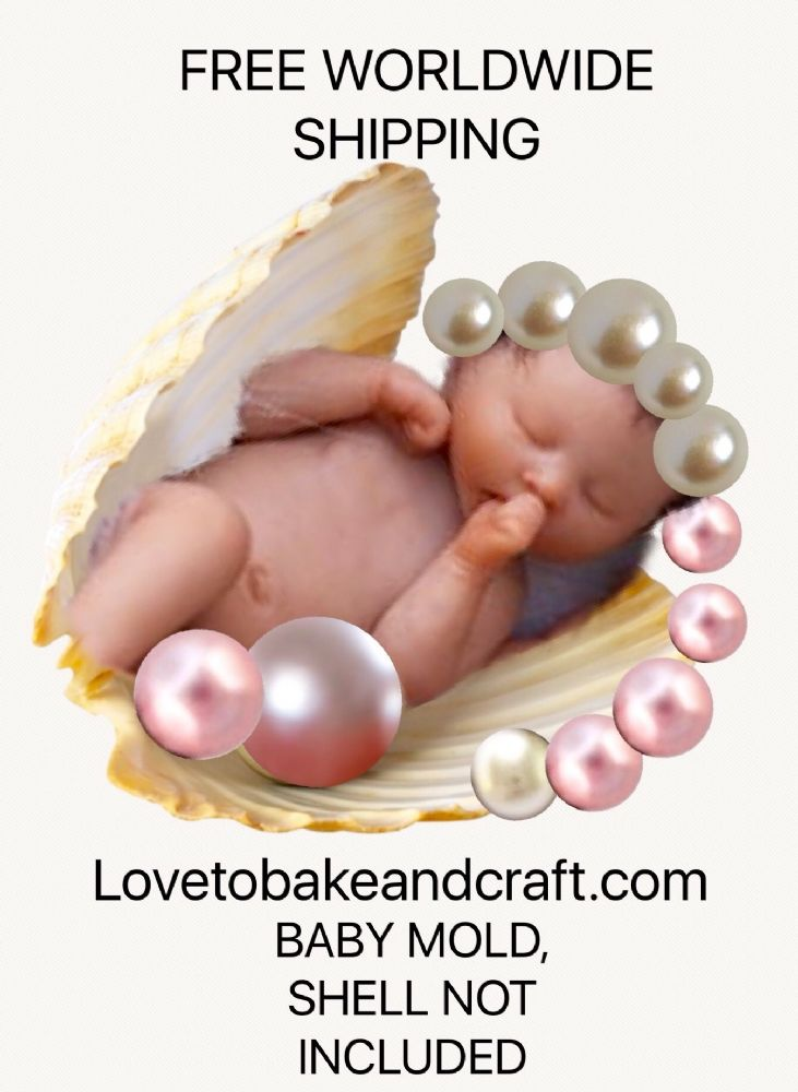 Fimo Baby Mold Polymer Baby Mold OOAK Baby Fimo Baby